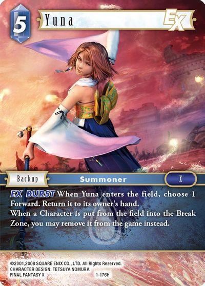 Final Fantasy TCG, Opus I Starter Rare NM Yuna 1-214S