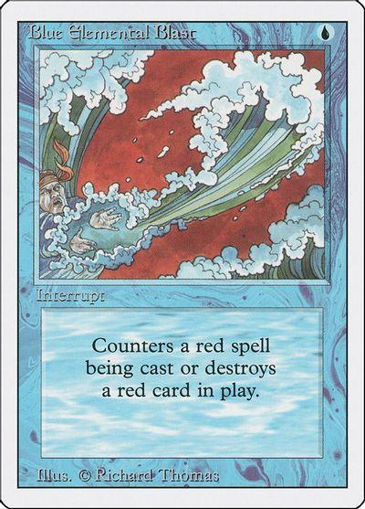 Red Elemental Blast Near Mint Normal English Magic the Gathering 4th Edition MTG
