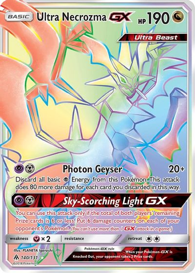 1 x Pokemon Ultra Necrozma GX SM Black Star Promo Sun /& Moon—Black Sta SM126