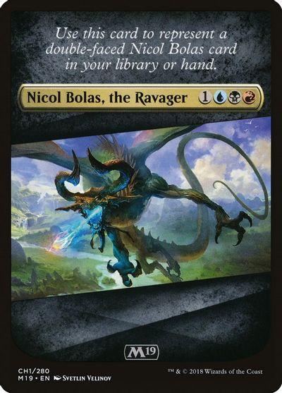 NM Near Mint Nicol Bolas the Ravager // Nicol Bolas MTG M19 the Arisen