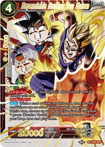 Details about  /Dragon Ball Super Card Game Dependable Brother Son Gohan  BT7-006  SPR NM//M x1