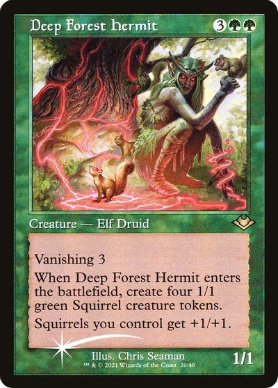 Green Modern Horizons Mtg Magic Rare 4x x4 4 Deep Forest Hermit